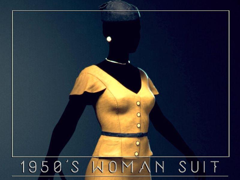 1950's Woman Suit