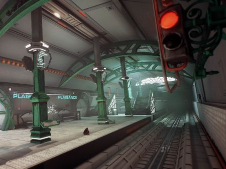 Futuristic parisian subway