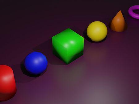Simple Blender 3D Shapes