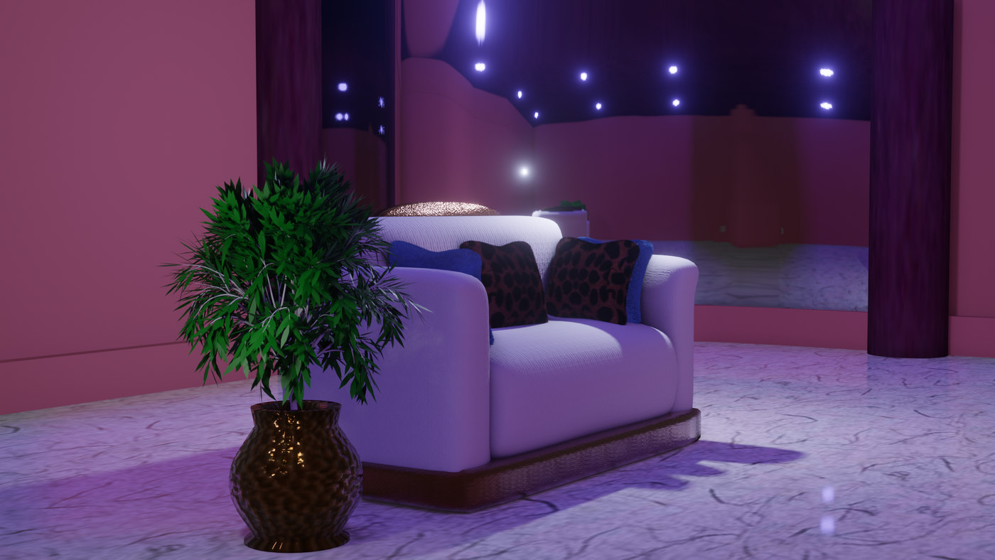 A CG COUCH USING BLENDER EVEE Render engine