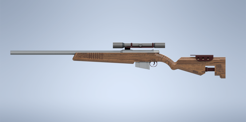 Wooden Sniper or Hunting RIfle