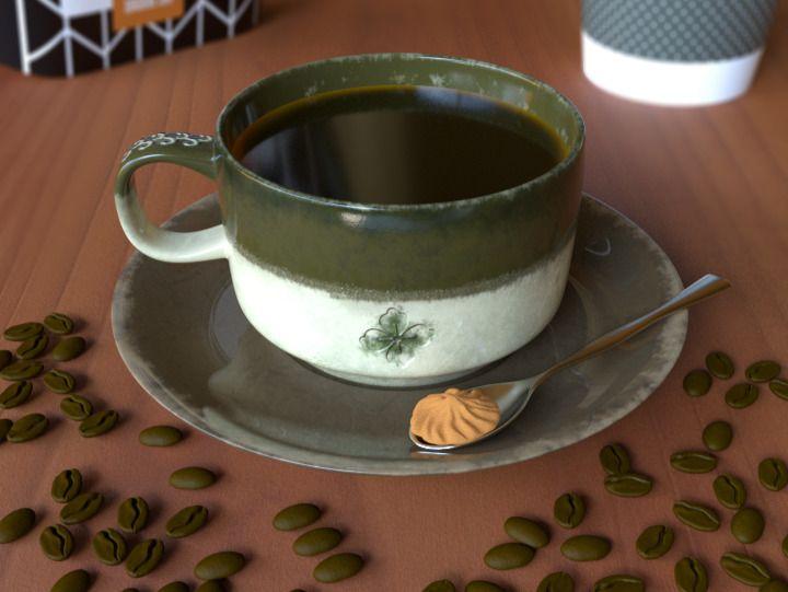 Coffee Realistic Render