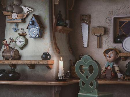 Gepetto's Workshop || Pinocchio scene