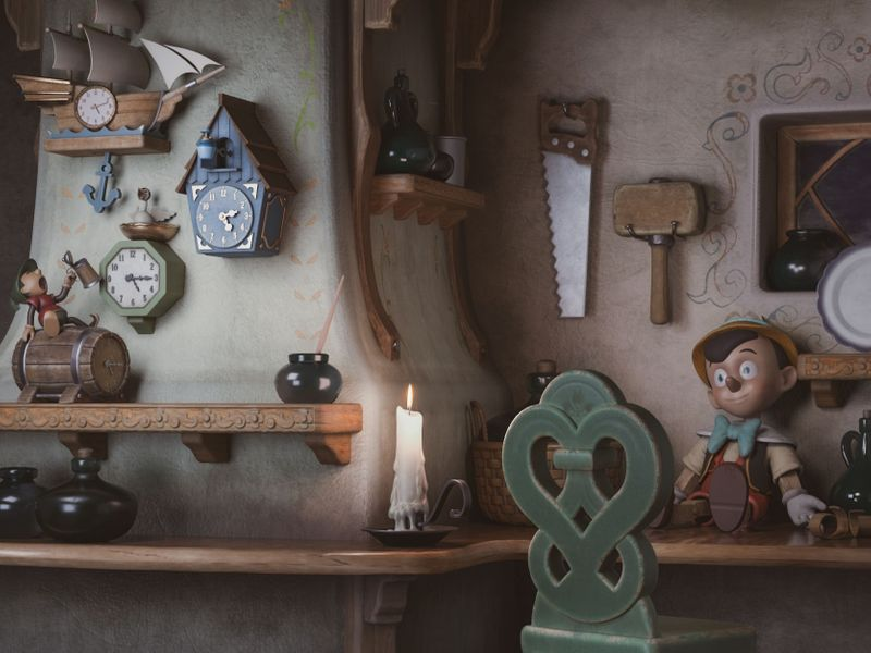 Gepetto's Workshop || Pinocchio scene
