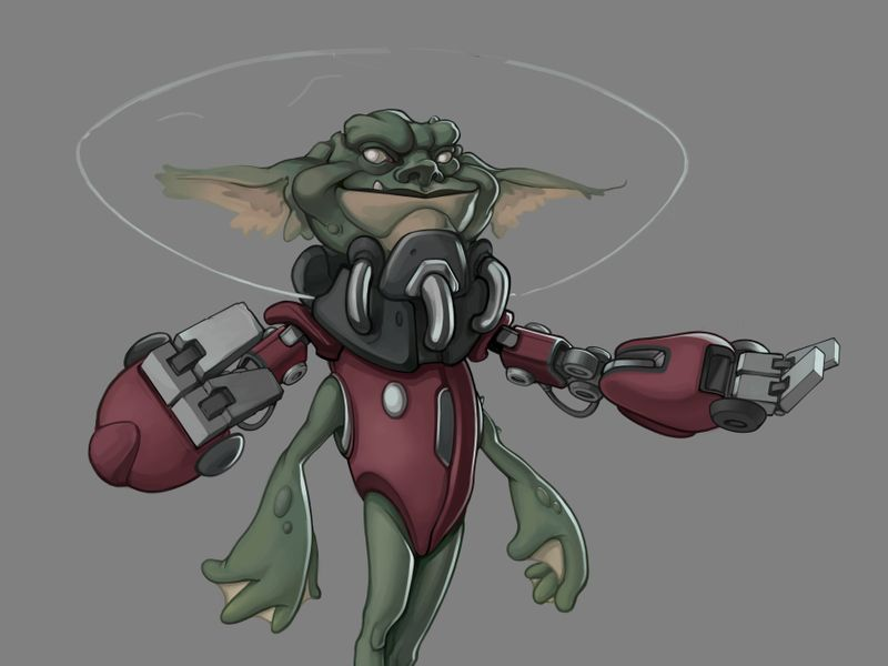 Smirky Kirk, The Space Froggo