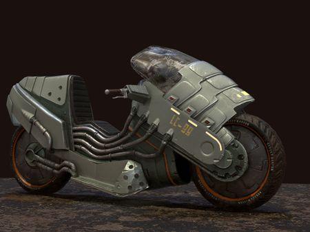 Sci-fi Motorbike