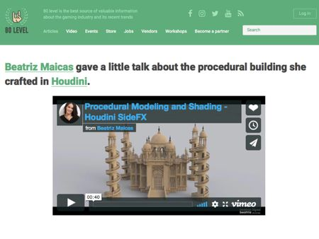 Procedural Modeling and Shading - Houdini SideFX