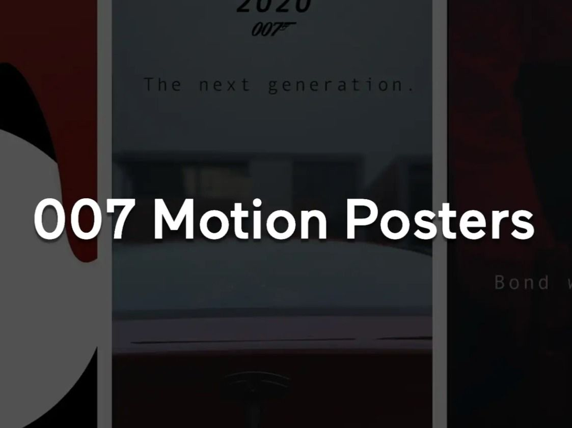 James Bond Motion Posters