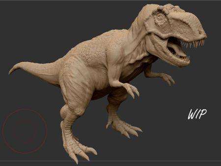 T-Rex sculpt