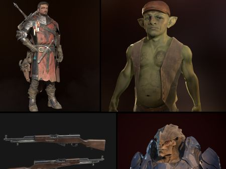 Characters and Props For Games