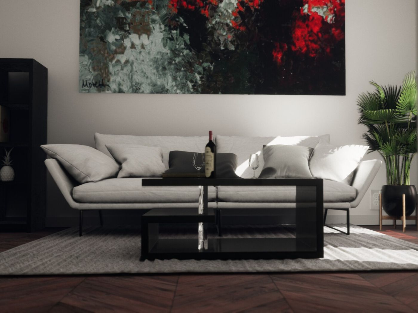Lounge Interior - Unreal Engine 4 ArchViz Realtime | The Rookies