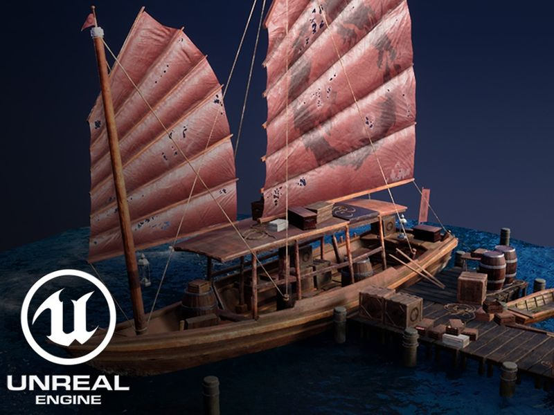 Japanese Junk Ship UE4
