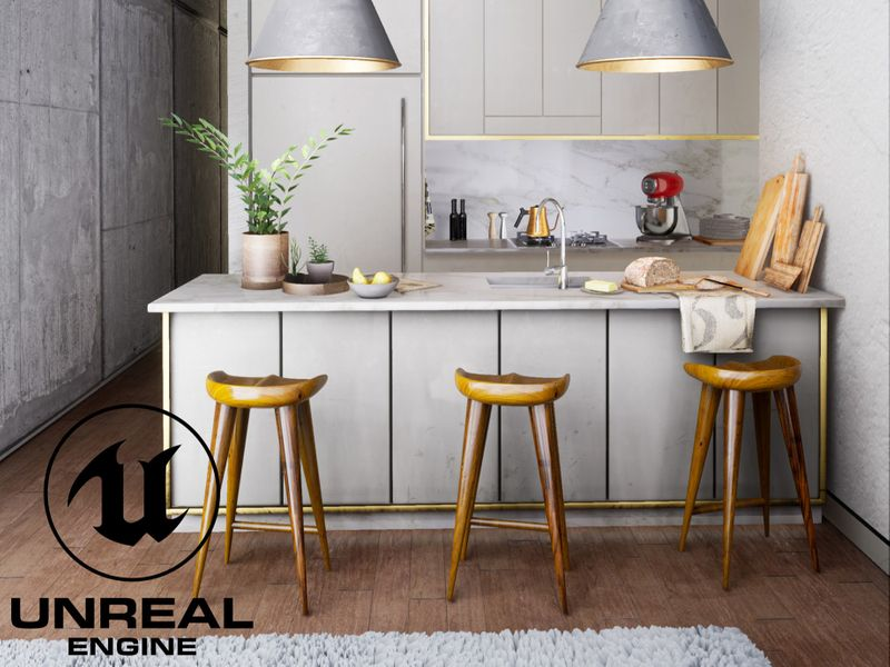 Kitchen visualization — Unreal Engine 4