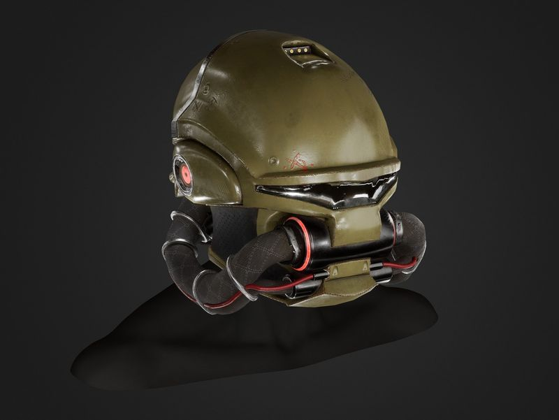 Doom 3 UAC Marine helmet remake
