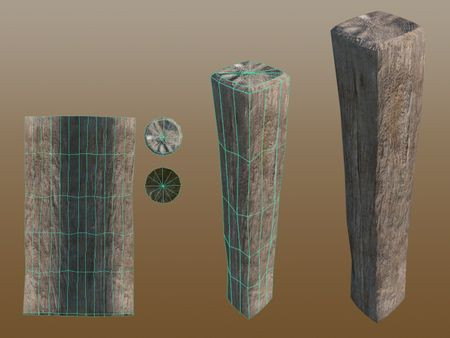 Environmental Prop: Wooden Beam