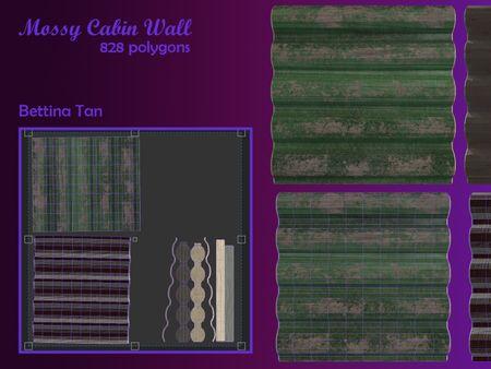 Modular Wall: Mossy Cabin Wall