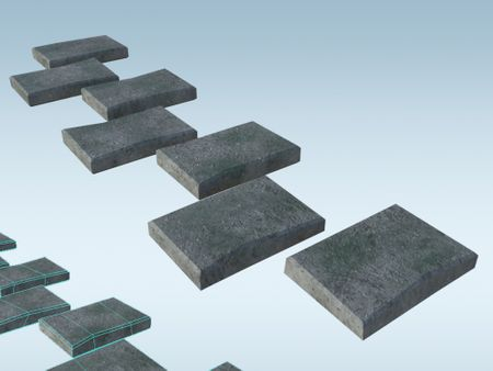 Multi Object Floor: Tiled Stone