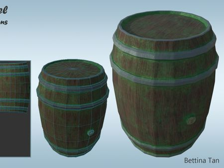 Environment Asset: Wooden Barrel