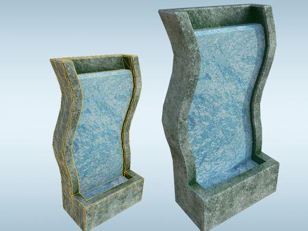 Panning Texture Asset: Modern Fountain