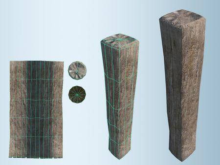 Environmental Prop: Wooden Beam