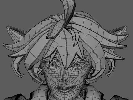 Character Low Poly: Wireframe Clean-Up
