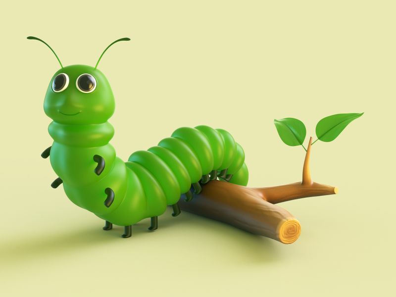 GREEN CATERPILLARS