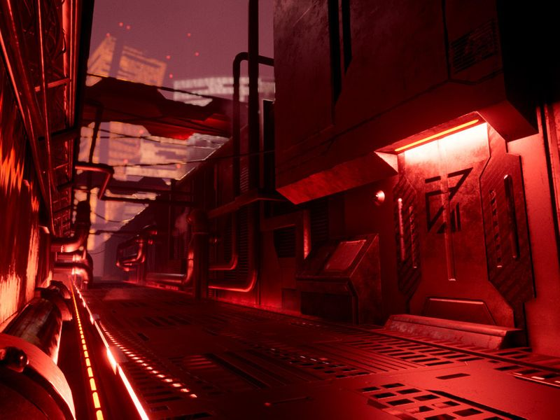 UE4 SciFi Environment - Red Hideout
