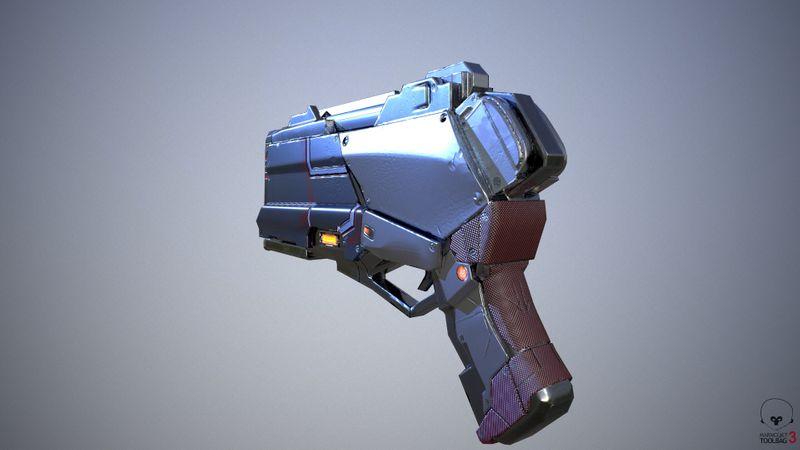 Sci fi energy beam pistol