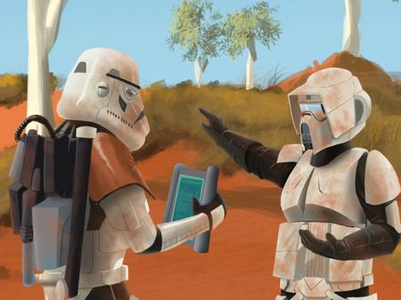 Storm Troopers lost in the outback
