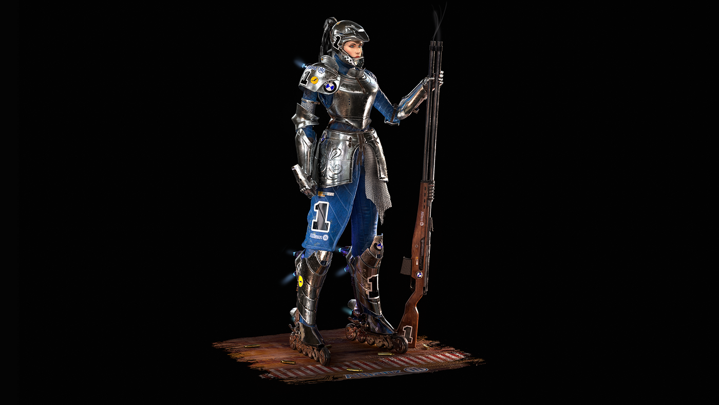 Game character model, concept by Johnson Ting