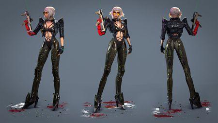 Cyber Warrior Robot Girl