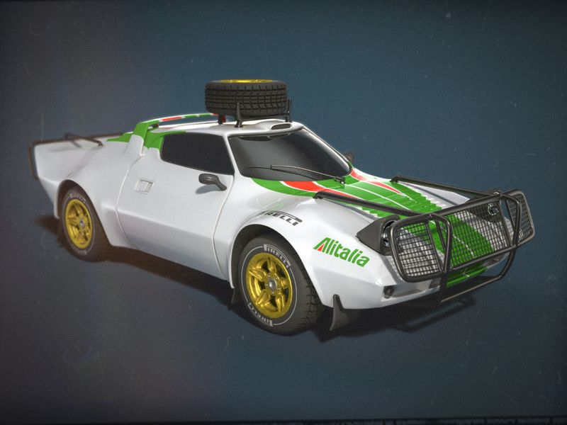 Lancia Stratos - Rally Car (High Poly)