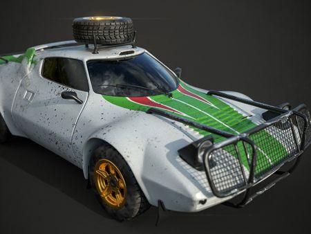 Lancia Stratos - Rally Car (High Poly)