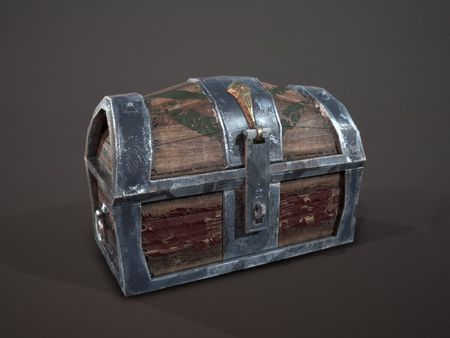 Treasure Chest with Open/Close Animations Low Poly