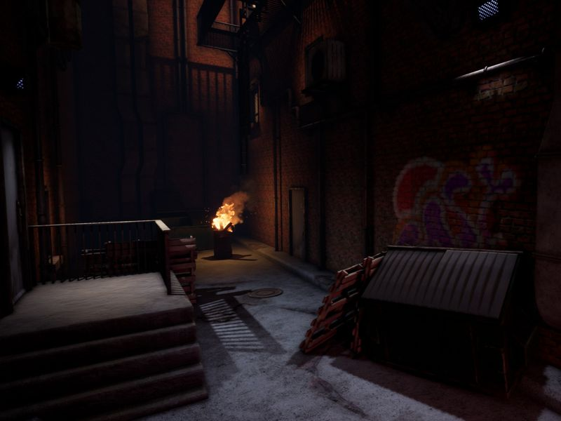 Dark Alley (Unreal 4 environment)