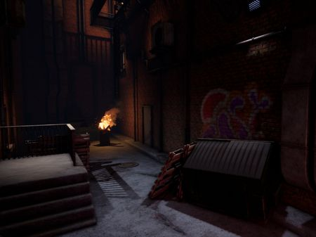 Dark Alley (Unreal 4 environment)
