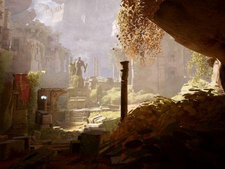 Castle ruins Unreal environment