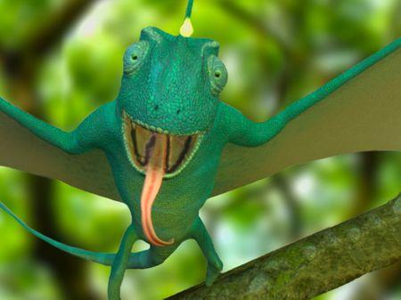 Chameleon Bat Creature Digital Sculpt