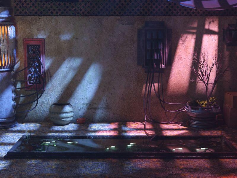 Cyberpunk Courtyard
