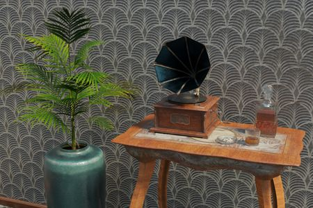 End Table With Phonograph