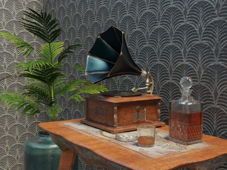 Small Table with Phonograph