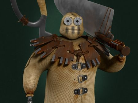8's Character from 9 movie - 3D Character Sculpture