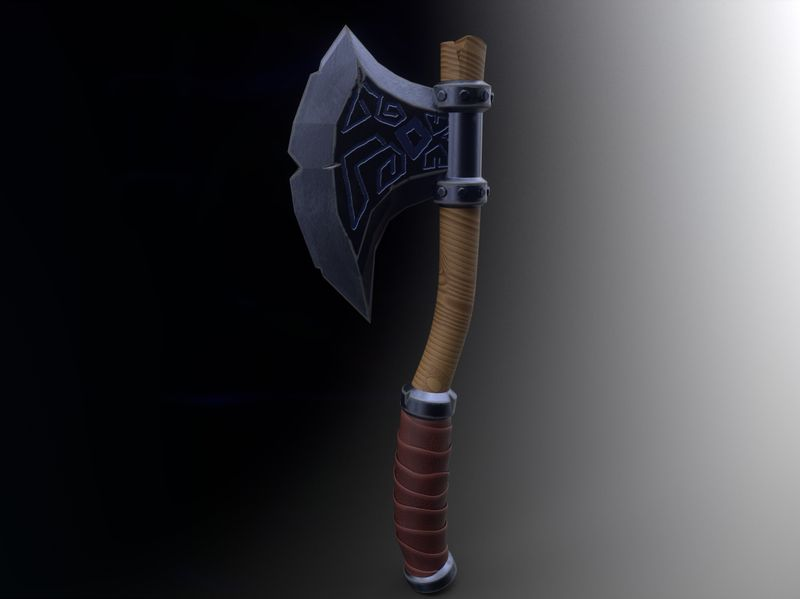 Stylized Medieval Hatchet