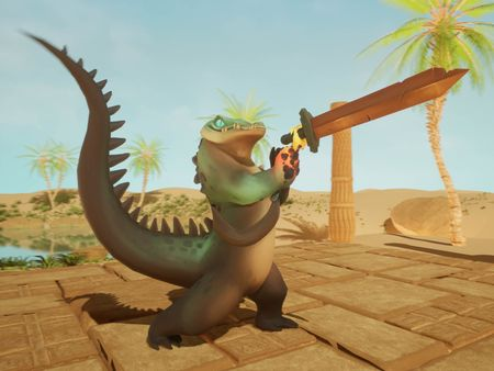 Croc Warrior Sword Swinging Animation
