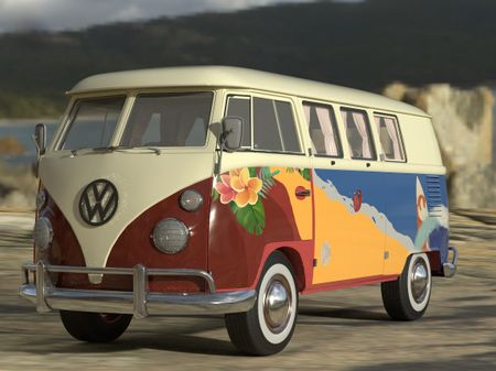 Beach Themed Kombi