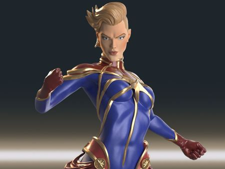 Captain Marvel Sculpt
