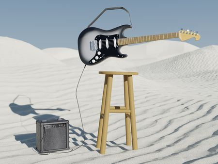 Guitar and Amp - hypothetical album cover