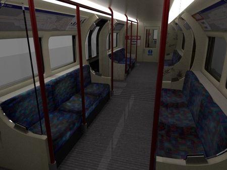 London Underground train interior