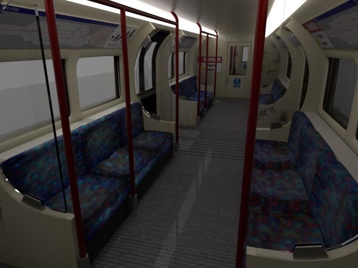 London Underground train interior
