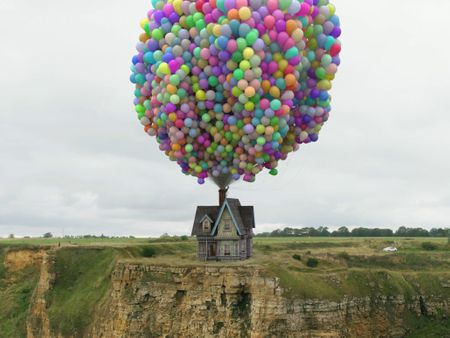Realistic version of the house from 'Up'